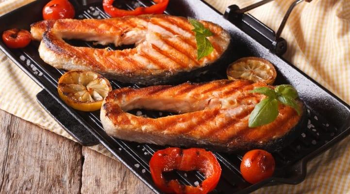 Grilled Salmon Darnes