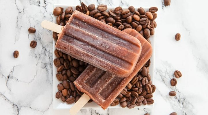 Iced Coffee Ice pop