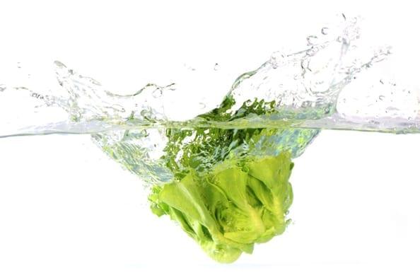 Content green salad