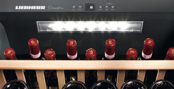 Liebherr, Wine Cabinet, Wine, Storage, GrandCru, Wine storage, Lighting, Liebherr, Humidity, Temperature, Vibration, Vinidor, Vinothek, Wine, Wine storage cabinet, Multi-temperature wine cabinet