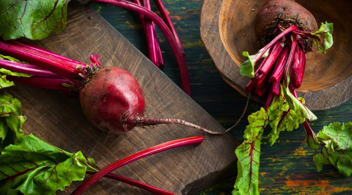 Fresh organic beetroot