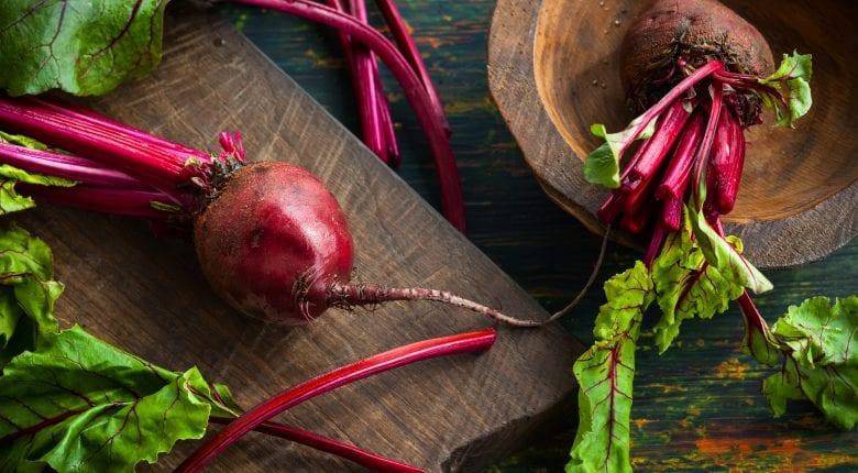 Fresh organic beetroot