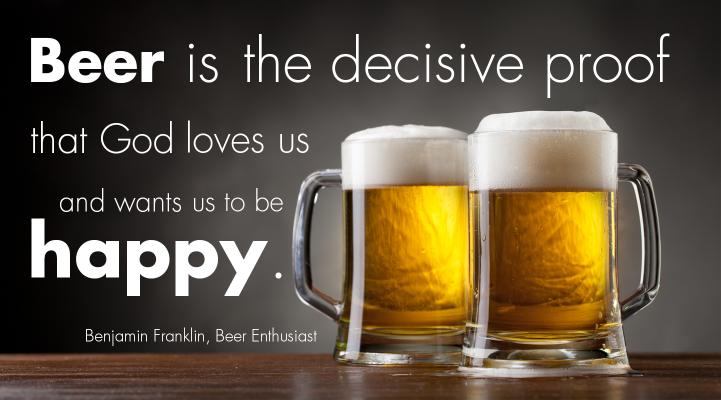 Beer Quote Benjamin Franklin