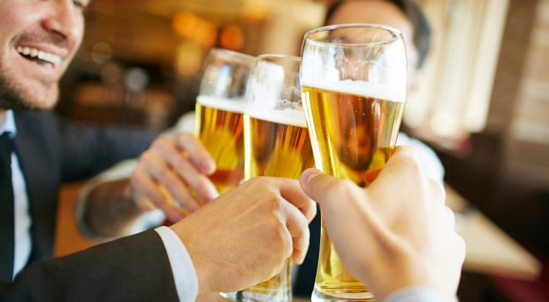 Cheers Clinking Beer Glasses