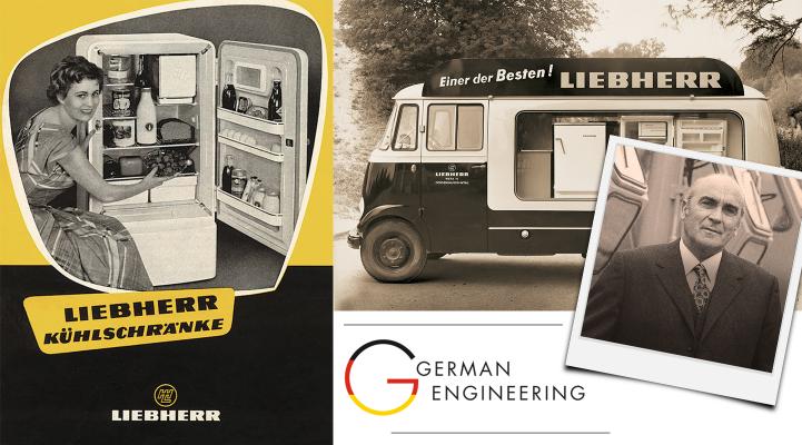 Early Liebherr refrigerator advertising
