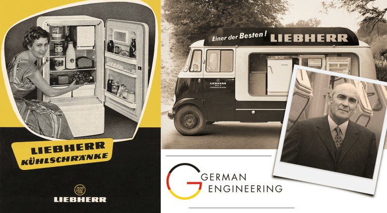 Early Liebherr refrigerator advertising