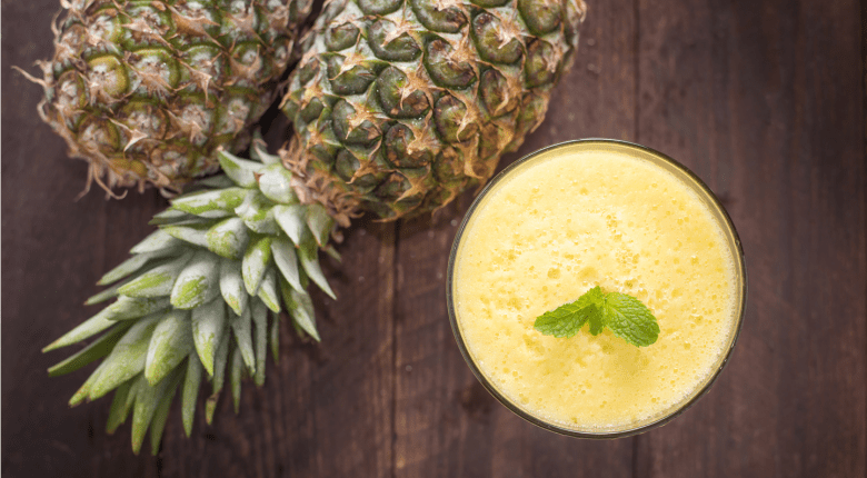Pineapples and smoothie