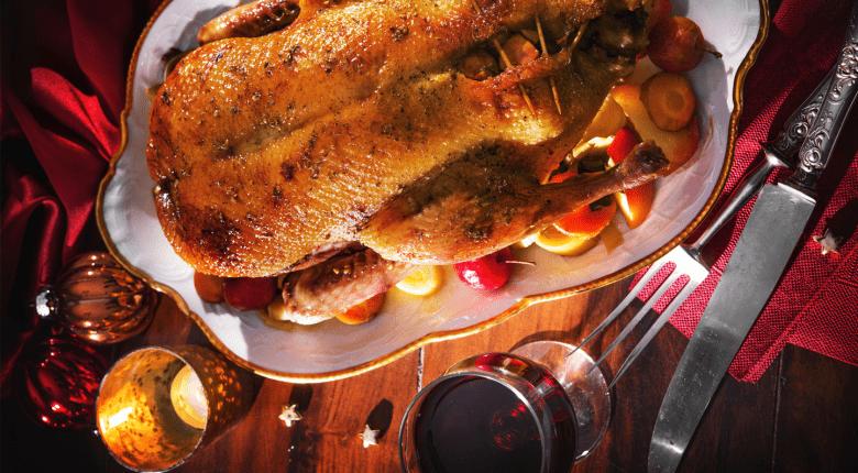 Roast Duck with Wine