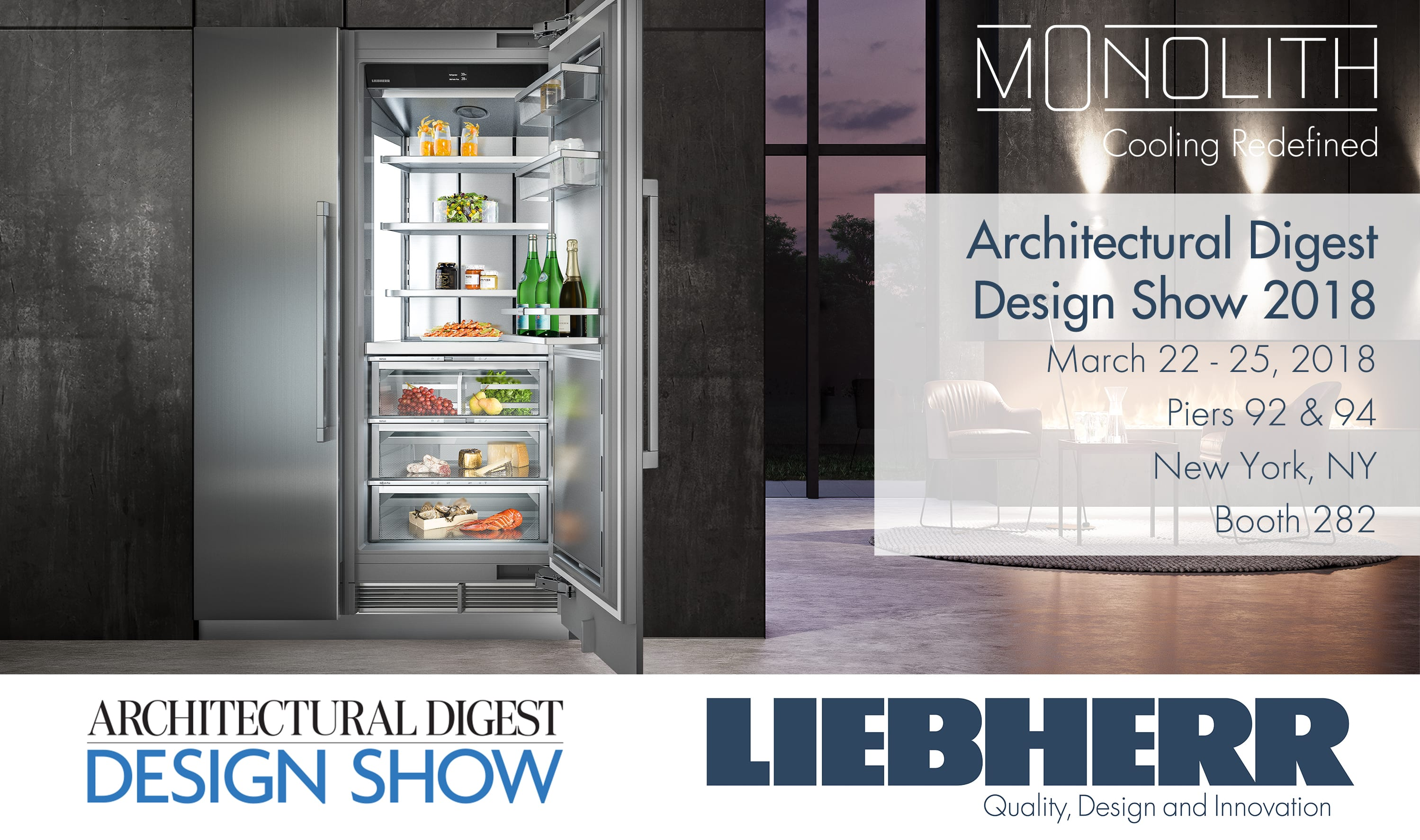 Liebherr Showcases Monolith Towers and New Undercounter ... on architecture home design show, architectural digest interior design, architectural design concepts, architectural digest show 2014, architectural digest home plans, architectural digest home show 2015, architectural digest home decor show, ad home design show, architectural digest home interiors, architectural design show nyc, arch digest home show, architectural digest trade show, architectural bedroom artwork, architectural digest home library,