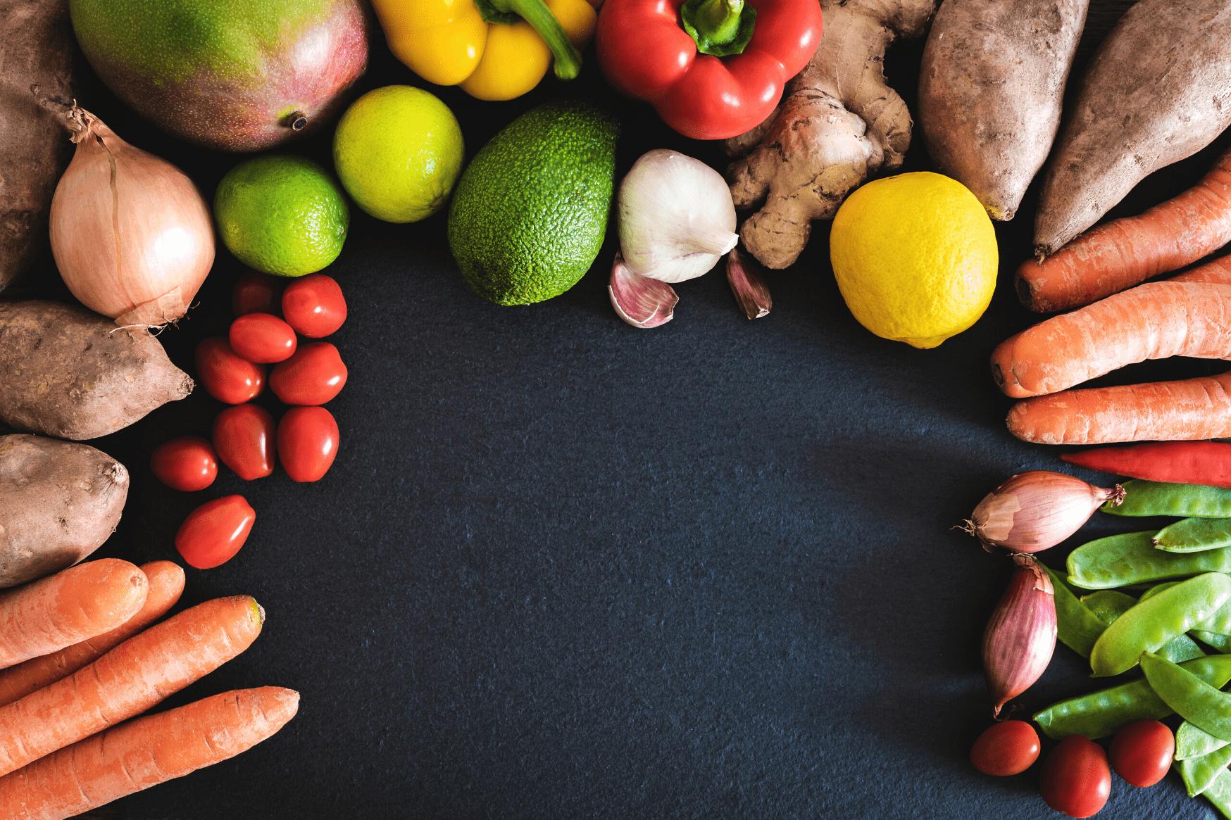 fruits, légumes, banane, exotiques, mûrir, fruits à noyau, tomates, agrumes, raisins