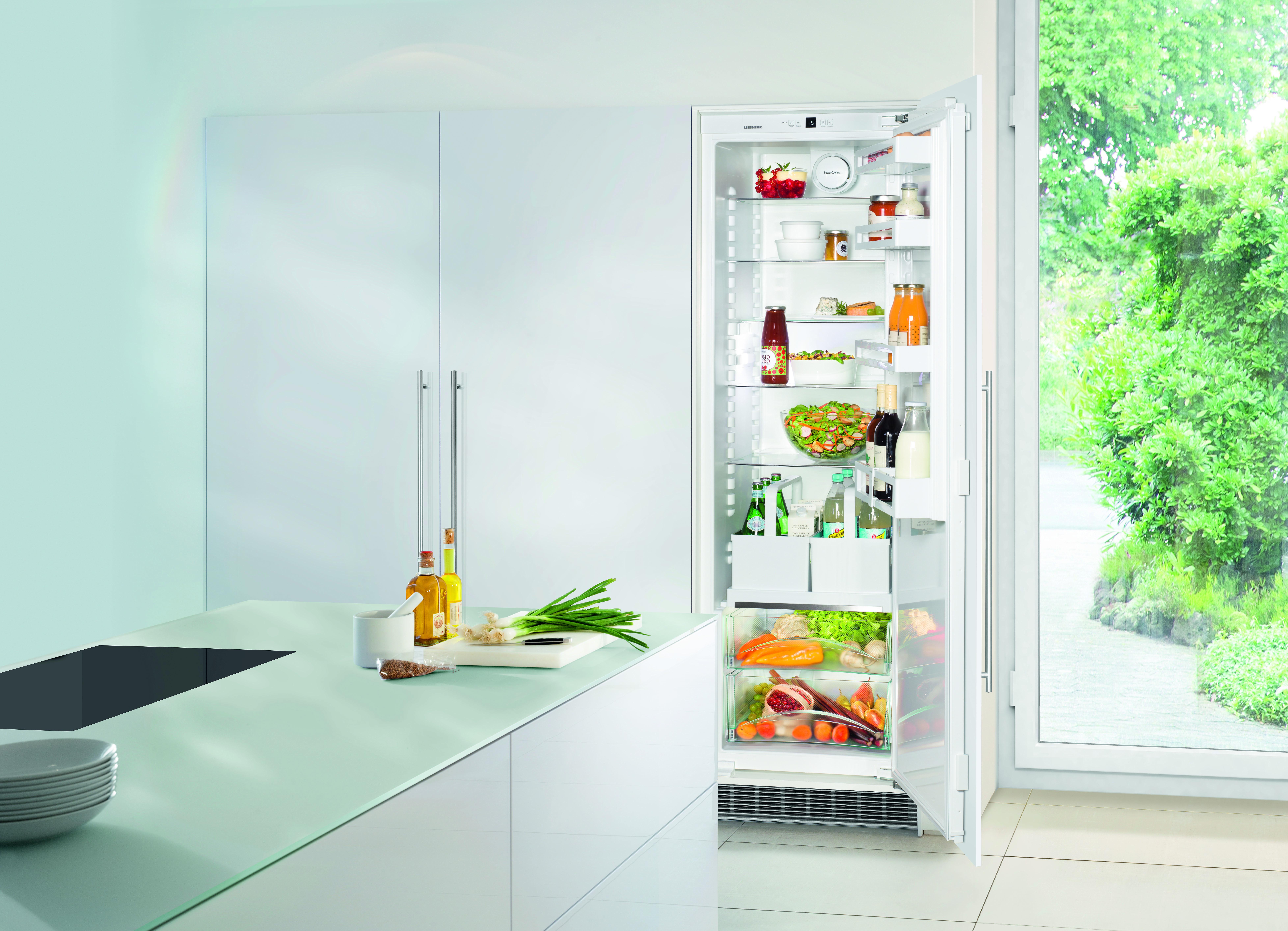 Getrankelagerung deluxe kuhlschrank mit auszugsbord fur for Kühlschrank mit eiswürfelmaker