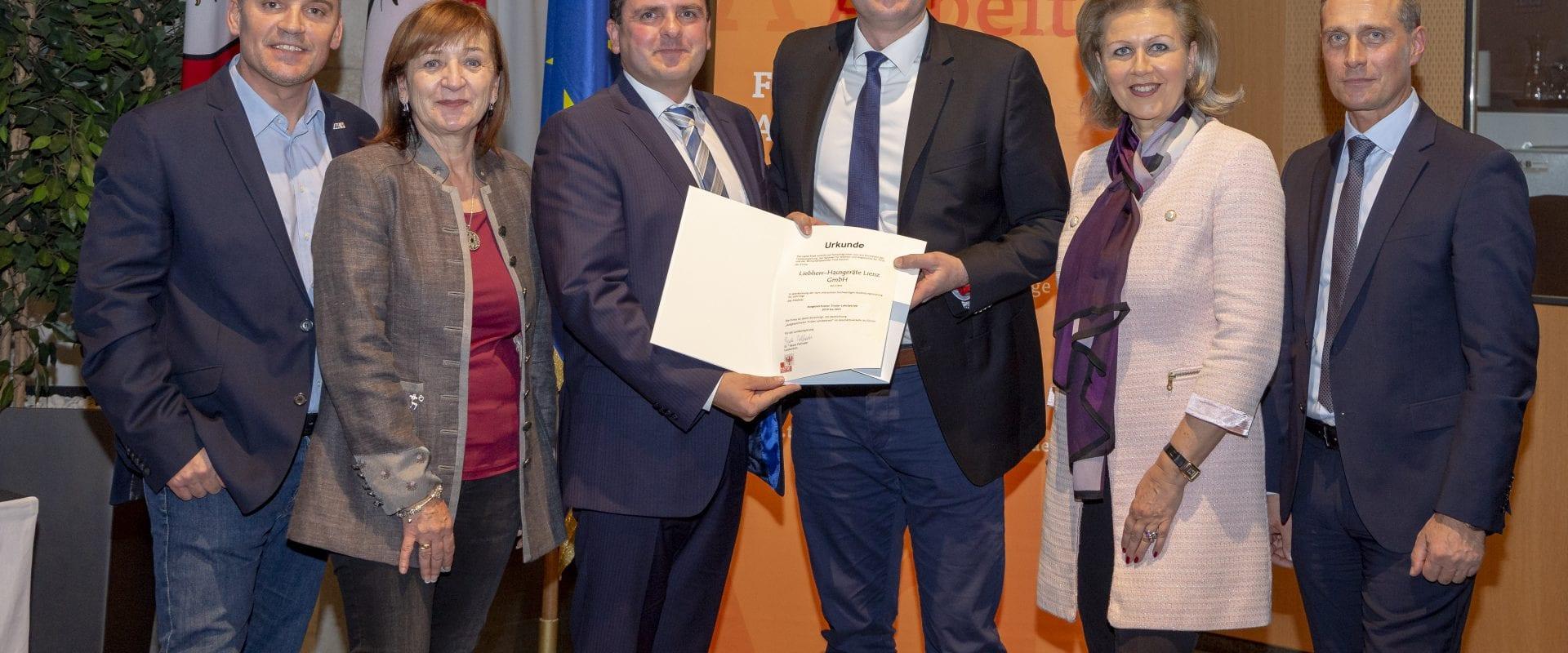Stolz auf unsere jungen Mitarbeiter - Auszeichnung als Tiroler Lehrbetrieb