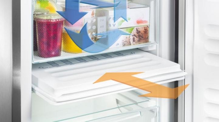 Mit der Vario-Energiesparplatte lässt sich bei vielen NoFrost-Geräten der Energieverbrauch um bis zu 50% senken.