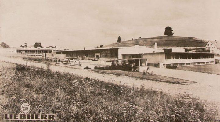 Die Anfänge der Kühlschrankproduktion bei Liebherr. Das Werk in Ochsenhausen im Jahre 1959.