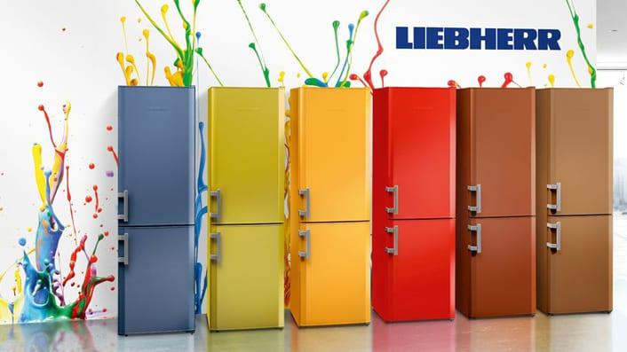 Premiere der LiebherrColourLineGeräte auf der Living  -> Kühlschrank Bunt