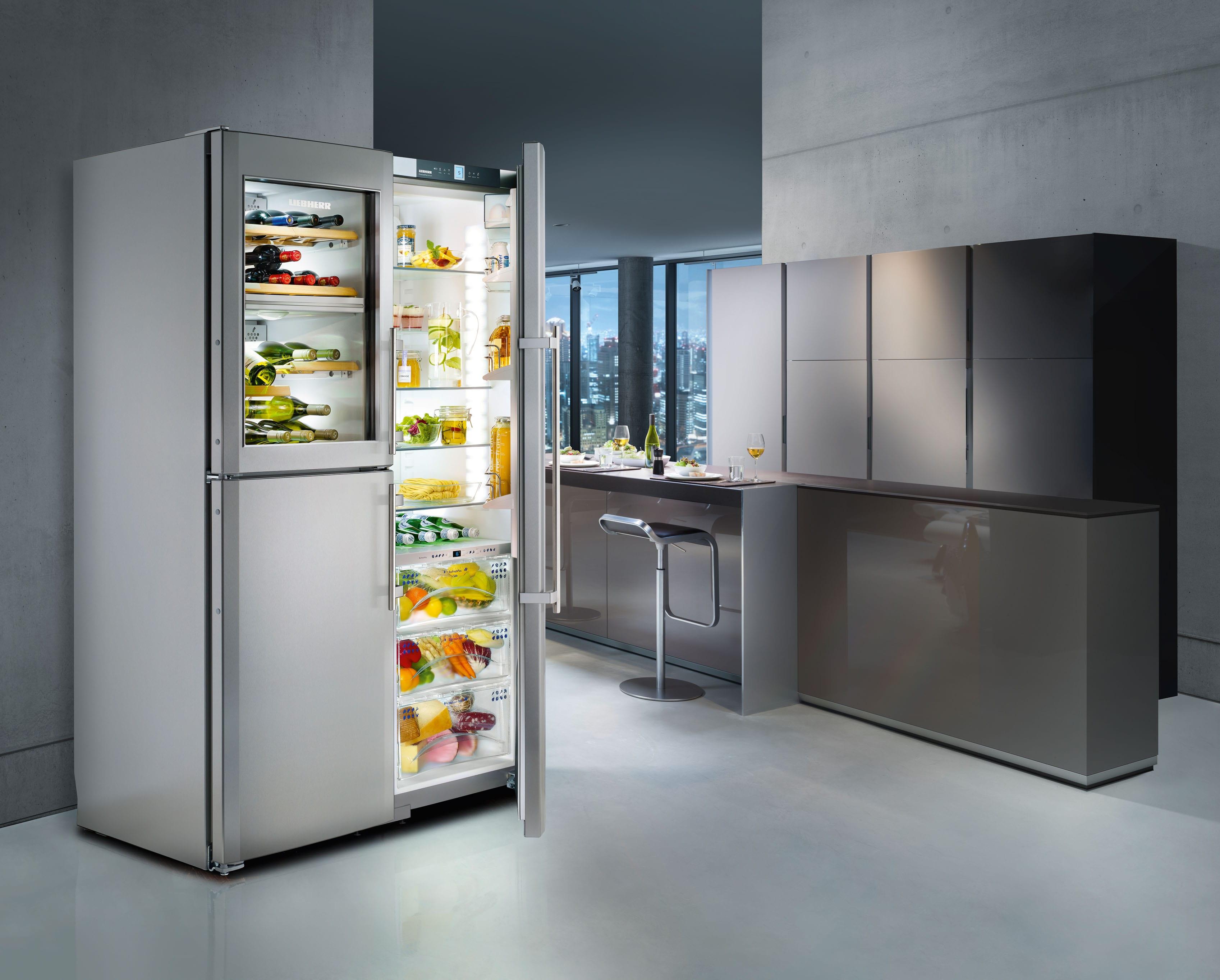 Side By Side Kühlschrank Integriert : Side by side kombination: das sind die vorteile freshmag liebherr