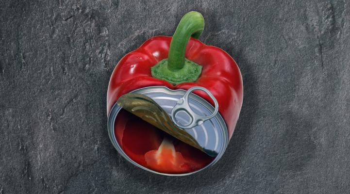 Paprika aus der Dose