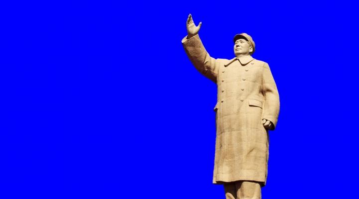Wein, China, Anbau, Vorsitzender Mao Statue