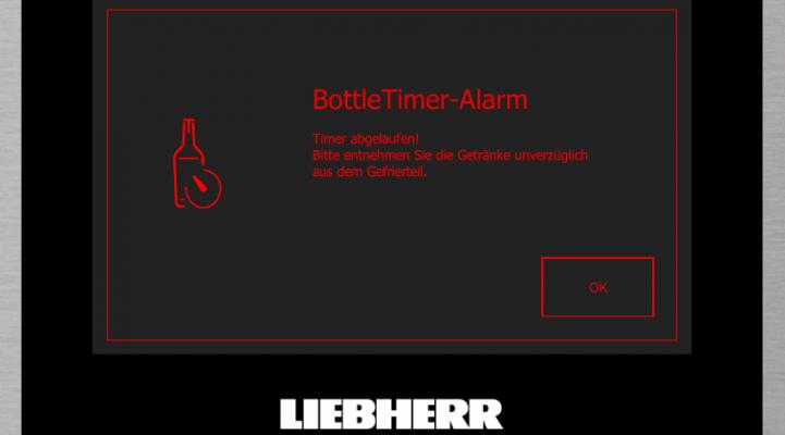BottleTimer, BluPerformance, Liebherr, Kühlen, Flaschen, Sicherheit