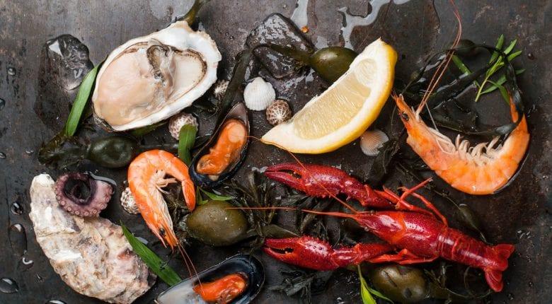 Köstliche frische Meeresfrüchte