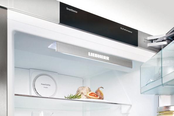 Liebherr BluPerformance - освещение холодильной камеры