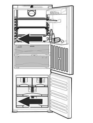Typeplaatje Liebherr koelvriescombinatie met BioFresh