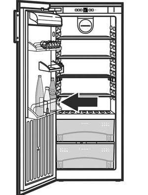 Typeplaatje Liebherr koelkast met BioFresh