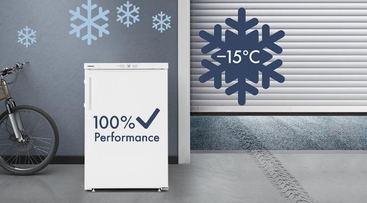 FrostProtect vriezer in onverwarmde ruimte