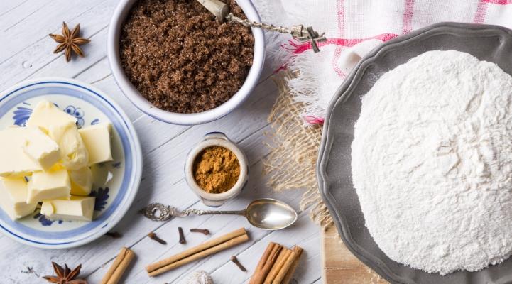 Ingredienten voor kruidnoten