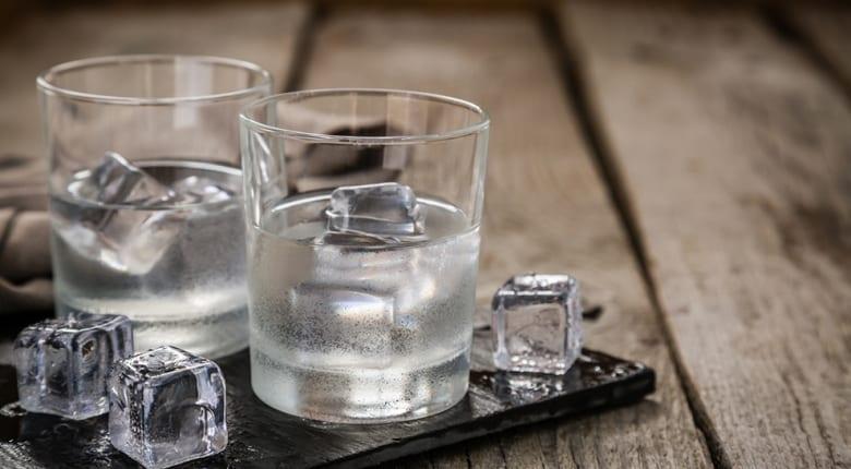 wodka met ijs